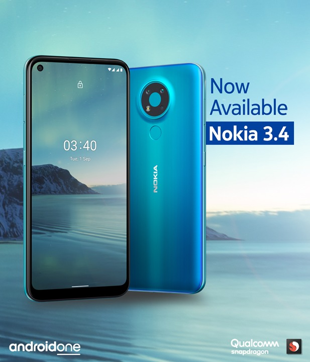 Nokia 3.4 Launches in Nepal