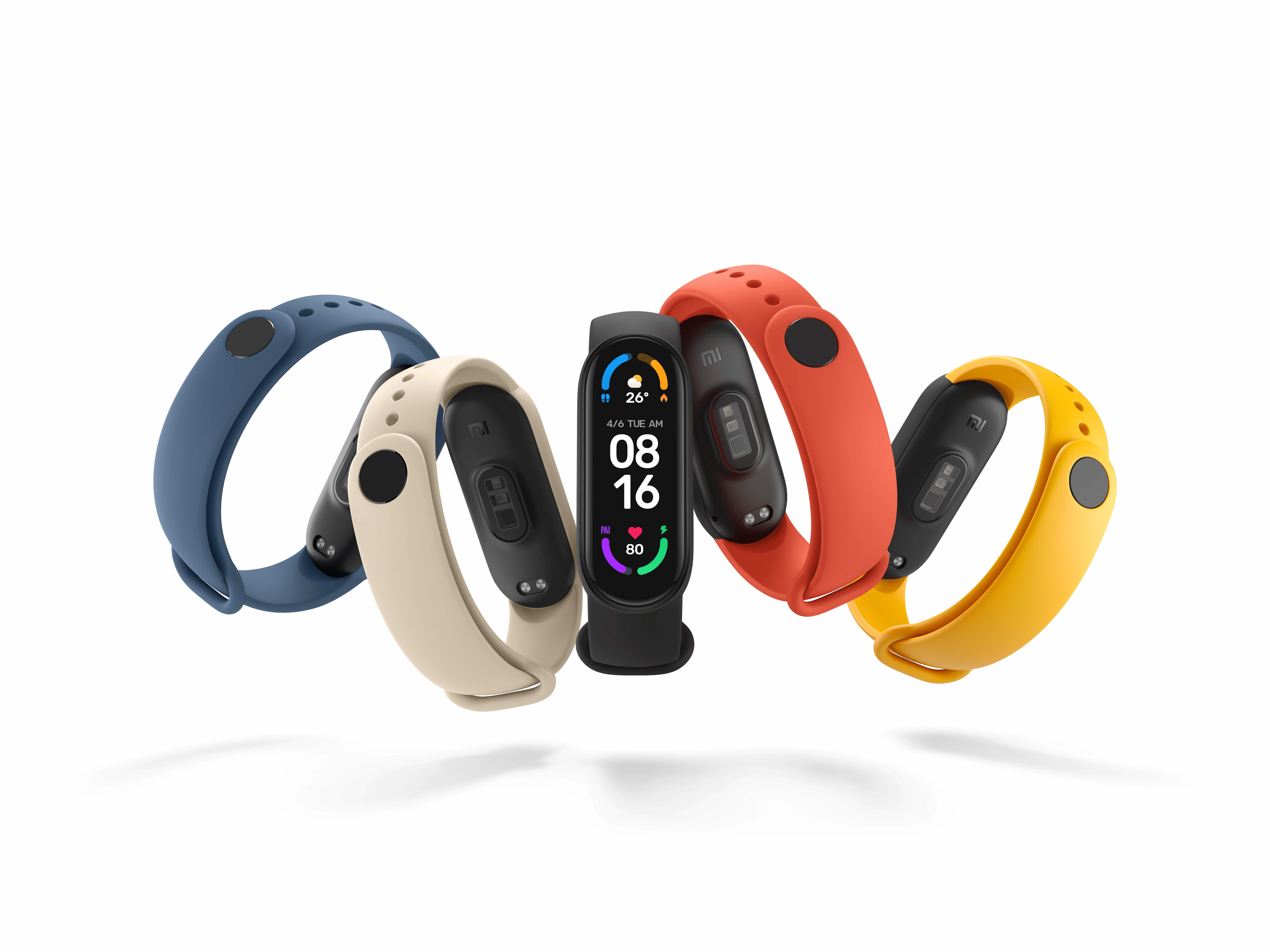 Mi Smart Band 6 with its stripes