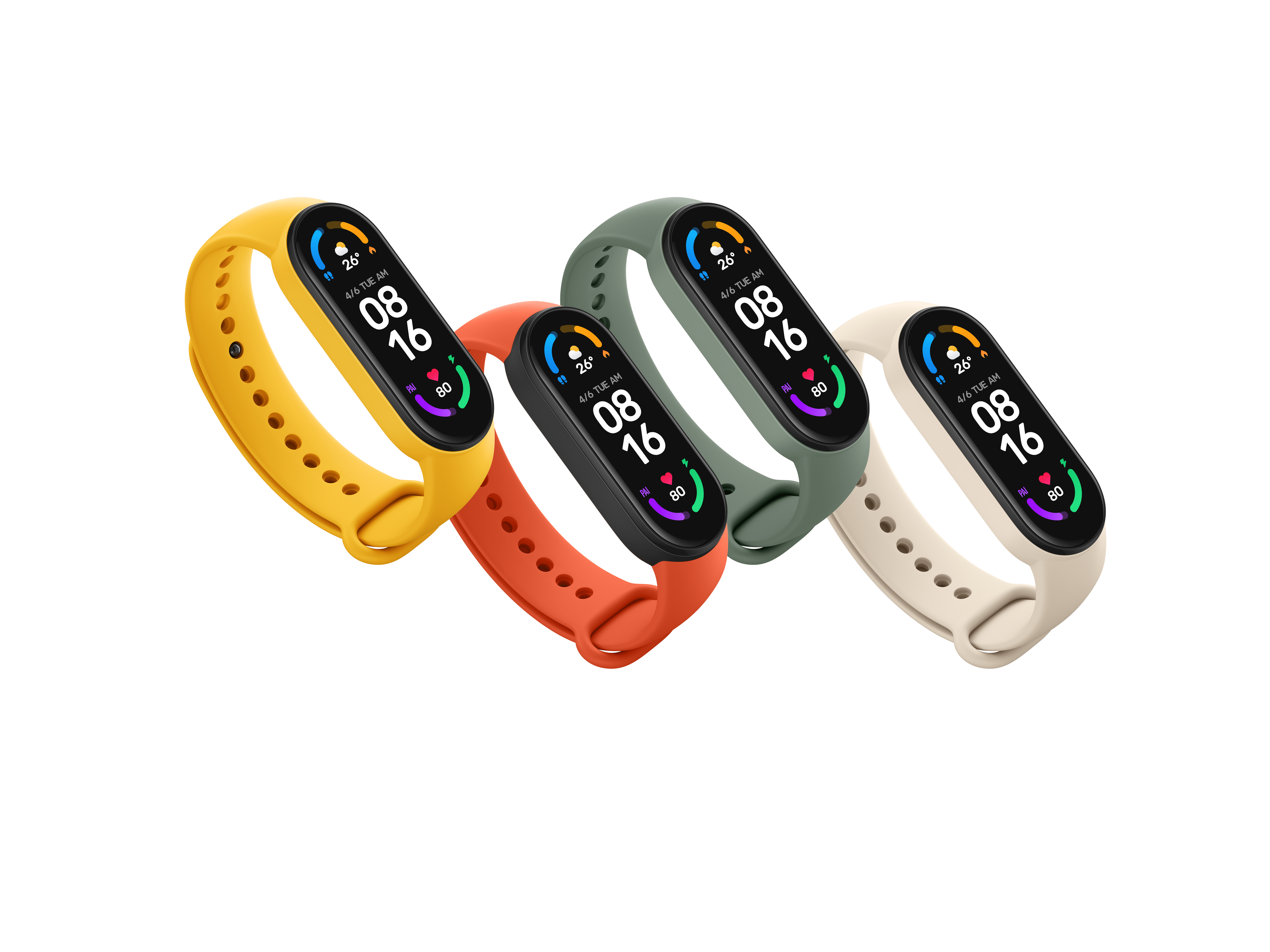 Mi Band 6 in its available colors